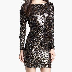 Dress the Population Lola Mini Dress; Size S